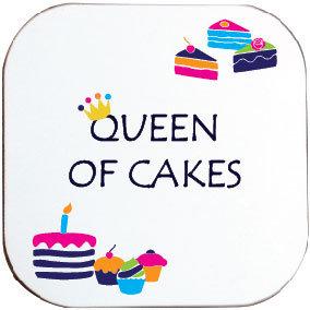 QUEEN OF CAKES COASTER