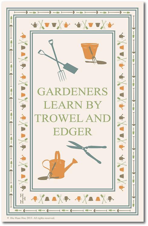 TROWEL AND EDGER TEA TOWEL