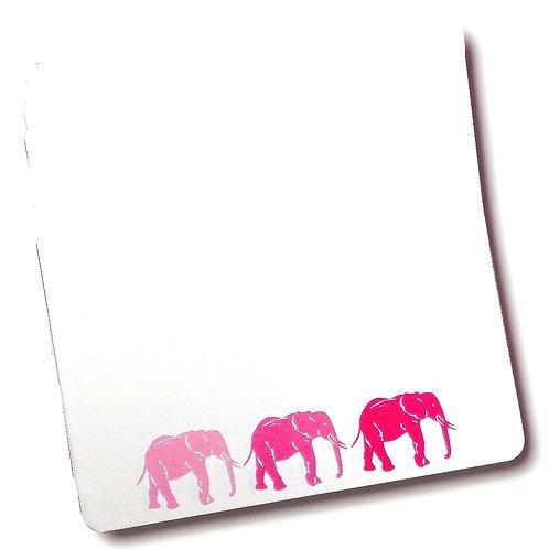 SET OF 6 PINK ELEPHANT POSTCARDS