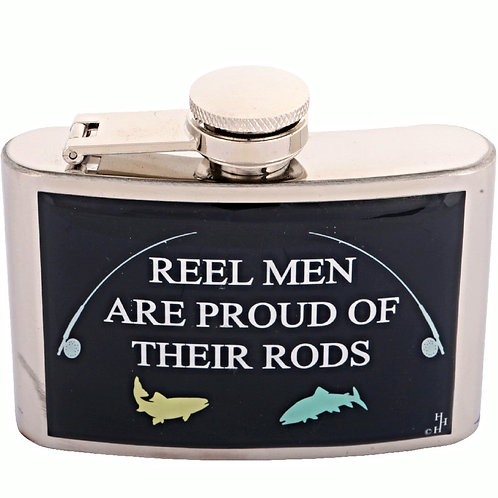 REEL MEN ARE PROUD OF THEIR RODS / FISHING - HIP FLASK