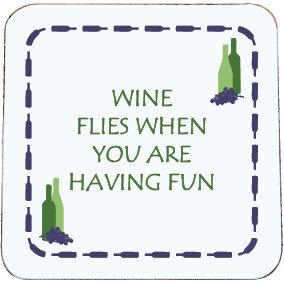WINE COASTER - WINE FLIES