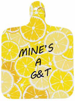 Gin & tonic themed chopping board