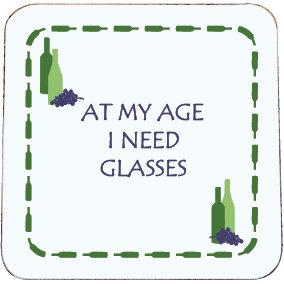 WINE COASTER I NEED GLASSES