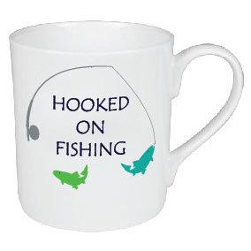 HOOKED ON FISHING MUG