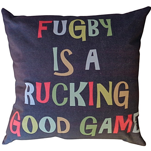 RUGBY CUSHION COVER (BLUE)