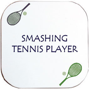 SMASHING TENNIS COASTER
