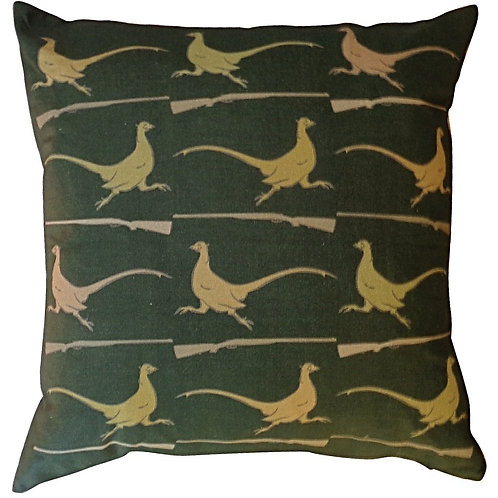 RUNNING PHEASANTS CUSHION COVER