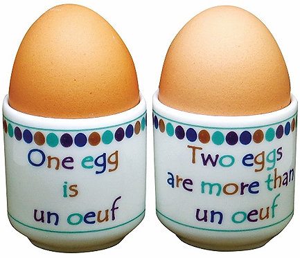 PAIR OF 'OEUF' EGG CUPS
