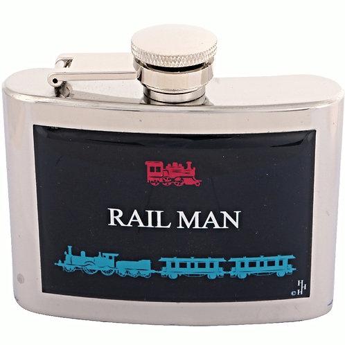 RAIL MAN / TRAIN - HIPFLASK