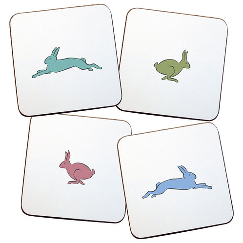 RUNNING HARES COASTERS