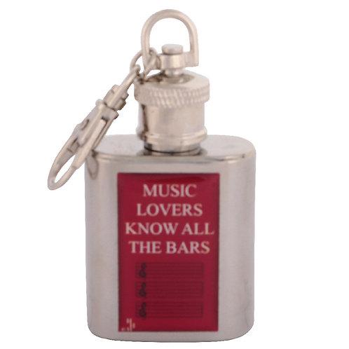 MUSIC LOVERS - KEYRING HIPFLASK