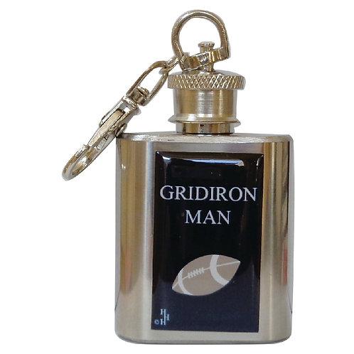 GRID IRON MAN / AMERICAN FOOTBALL - KEYRING HIPFLASK