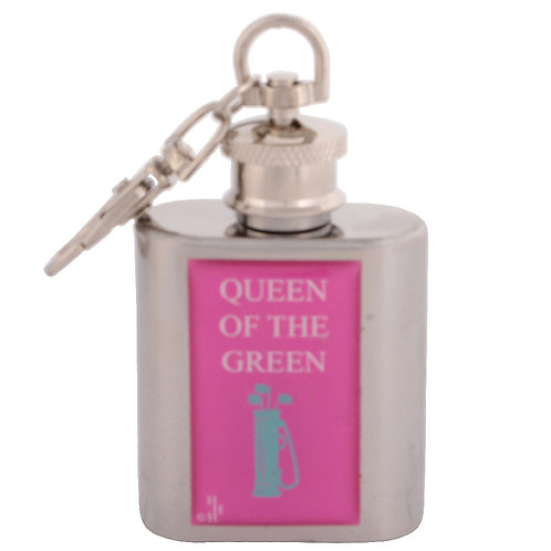 QUEEN OF THE GREEN / GOLF - KEYRING HIPFLASK