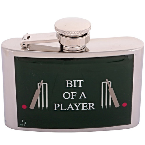 BIT OF A PLAYER / CRICKET - HIPFLASK