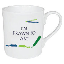I'M DRAWN TO ART MUG