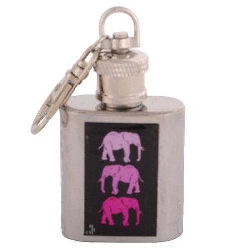 PINK ELEPHANT - KEYRING HIPFLASK
