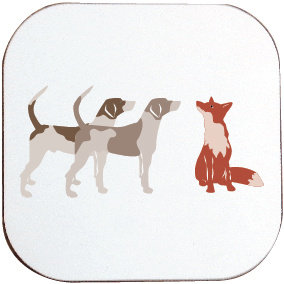 FOX AND HOUNDS COASTER
