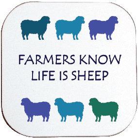 LIFE IS SHEEP COASTER