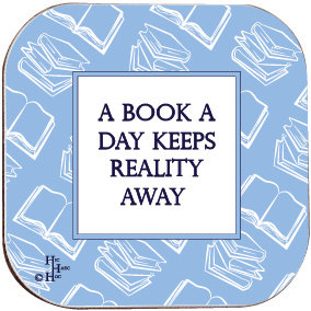 BOOK COASTER - A BOOK A DAY KEEPS REALITY AWAY