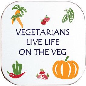 VEGETARIANS LIVE LIFE ON THE VEG COASTER