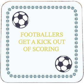 FOOTBALLERS GET A KICK OUT OF SCORING COASTER / SOCCER