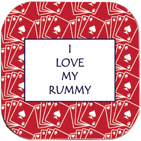 I LOVE MY RUMMY COASTER