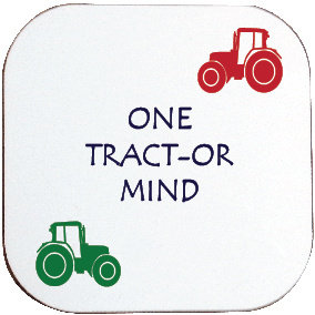 ONE TRACT-OR MIND COASTER