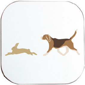 BEAGLE AND HARE COASTER