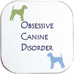 AIREDALE TERRIER DOG COASTER
