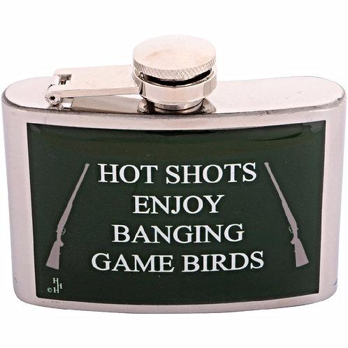 BANGING GAME BIRDS / SHOOTING - HIPFLASK