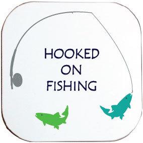 HOOKED ON FISHING COASTER