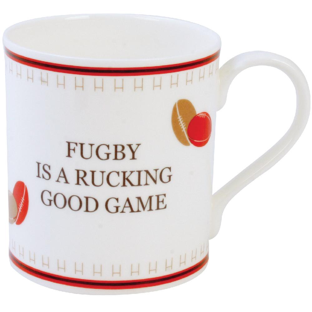 Funny rugby mug