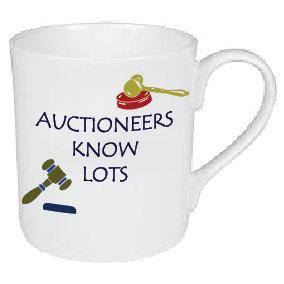 AUCTIONEERS KNOW LOTS MUG