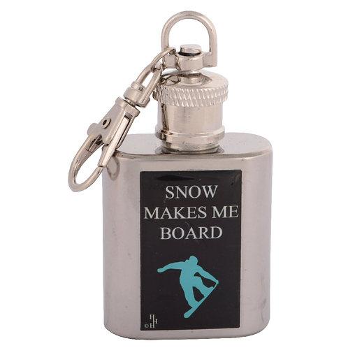 SNOWBOARDING - KEYRING HIPFLASK