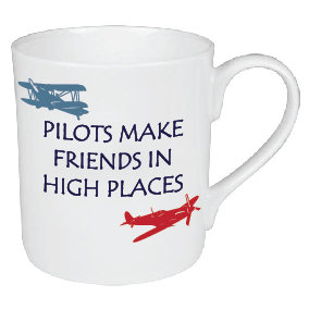 PILOTS MAKE FRIENDS IN HIGH PLACES MUG