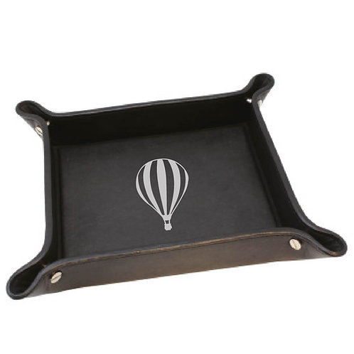 LEATHER BALLOONING TIDY TRAY