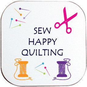 SEW HAPPY QUILTING COASTER