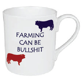 FARMING CAN BE BULLSHIT MUG