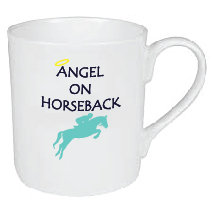 ANGEL ON HORSEBACK MUG