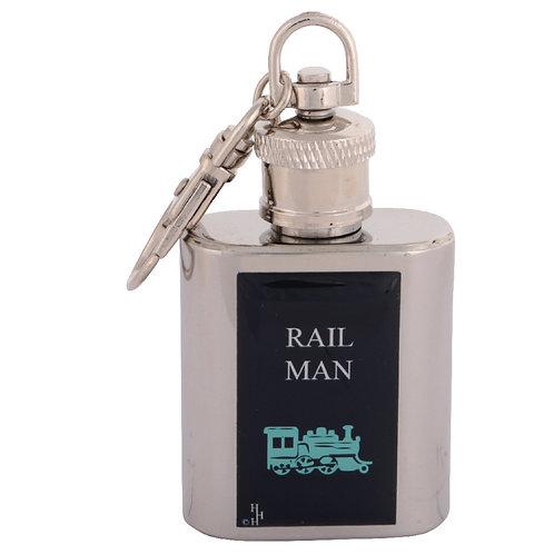 RAIL MAN / TRAIN - KEYRING HIPFLASK