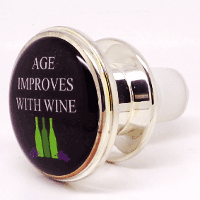 WINE BOTTLE STOPPER - AGE IMPROVES WITH WINE
