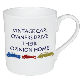 VINTAGE CAR OWNER MUG
