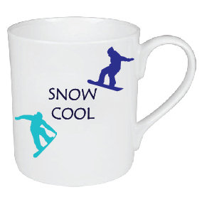 SNOW COOL SNOWBOARDING MUG