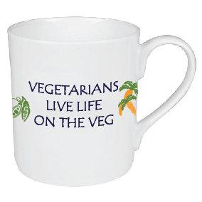 VEGETARIANS LIVE LIFE ON THE VEG MUG