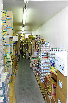 The inside of Seaside food bank, refilled to last through a grusome winter