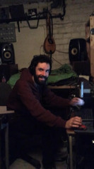 Recording with the lovely John, my co-producer .