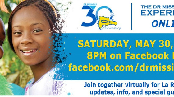 This Saturday, May 30th - Join us on Facebook Live!