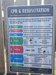 Heavy Duty Plastic CPR Signs