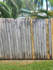 Replaced damaged timber palings