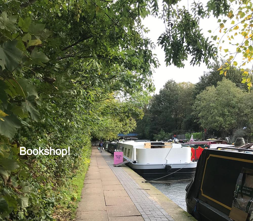 Tellling Tales floating bookshop Regent's Canal
